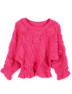/pt/3d-floral-rose-frill-peplum-crop-sweater-knitwear-rose-red-p-1225.html