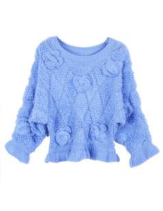/fr/3d-floral-rose-frill-peplum-crop-sweater-knitwear-blue-p-1226.html