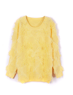 /tassle-baggy-crew-neck-sweater-yellow-p-1293.html