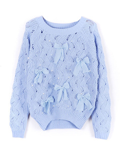 /blue-bow-eyelet-embellished-plastic-pearls-knit-sweater-p-1052.html