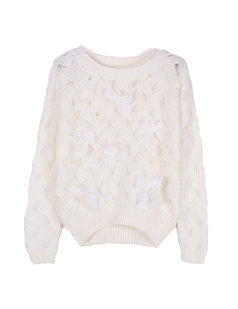 /white-bow-eyelet-embellished-plastic-pearls-knit-sweater-p-1058.html