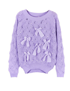 /purple-bow-eyelet-embellished-plastic-pearls-knit-sweater-p-1054.html