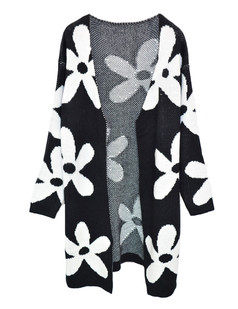 /oversize-flower-pattern-knit-open-cardigan-black-p-5446.html