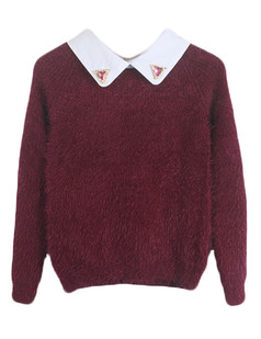 /beads-collar-mohair-fluffy-sweater-burgundy-p-4876.html