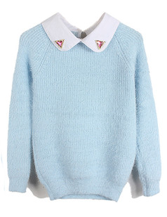 /ru/beads-collar-mohair-fluffy-sweater-blue-p-4870.html