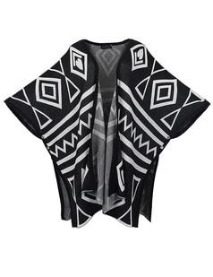 /fr/black-batwing-sleeve-magar-geometric-print-cardigan-p-1234.html
