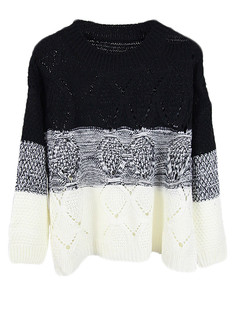 /ombre-stripes-hollow-knit-pullovers-sweater-black-p-5192.html