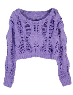 /slouchy-twisted-crop-hollow-knit-sweater-purple-p-4768.html