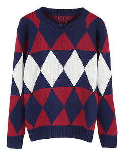 /diamond-pattern-knitted-jumper-sweater-blue-p-5470.html