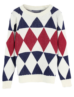 /diamond-pattern-knitted-jumper-sweater-beige-p-5472.html