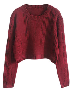 /cable-knit-crop-jumper-sweater-burgundy-p-5108.html