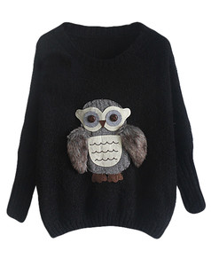 /owl-bat-sleeve-knit-jumper-sweater-black-p-5448.html