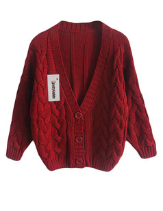 /ru/basic-v-neck-chunky-twisted-knit-cardigan-burgundy-p-5684.html