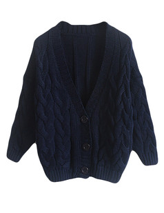/basic-v-neck-chunky-twisted-knit-cardigan-blue-p-5686.html