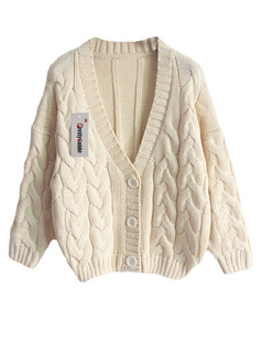 /basic-v-neck-chunky-twisted-knit-cardigan-beige-p-5682.html