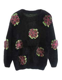 /embroidered-applique-mohair-fluffy-sweater-black-p-5672.html