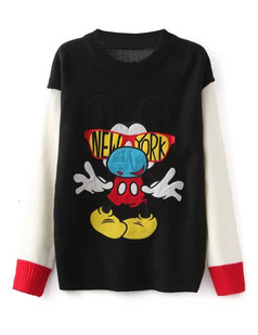 /cartoon-mickey-knit-jumper-sweater-black-p-5900.html