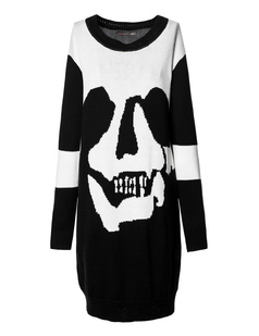 /women-oversized-skull-crew-neck-sweater-knit-dress-p-697.html