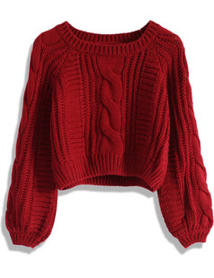 /cable-puff-sleeves-knit-crop-sweater-burgundy-p-5744.html
