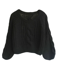 /cable-puff-sleeves-knit-crop-sweater-black-p-5742.html