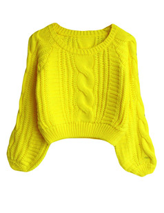 /cable-puff-sleeves-knit-crop-sweater-yellow-p-5738.html