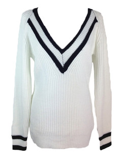 /v-neck-stripes-loose-boyfriend-sweater-white-p-5286.html