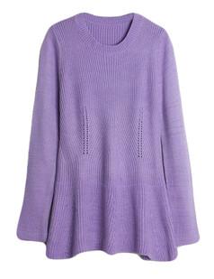 /ja/eyelet-front-peplum-hem-ribbed-sweater-p-5620.html