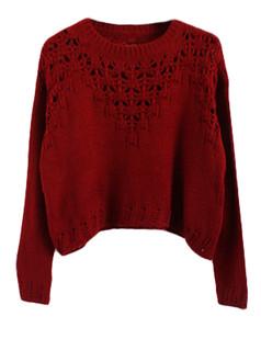 /hollow-eyelet-cropped-sweater-burgundy-p-5652.html