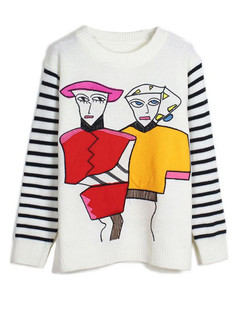 /es/abstract-cartoon-pattern-striped-sleeve-pullover-p-5612.html