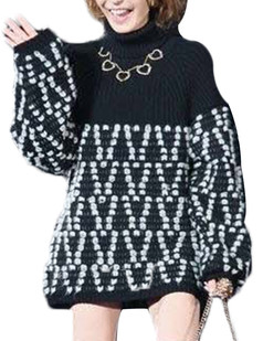 /turtle-neck-loose-lantern-sleeve-sweater-p-5328.html