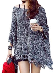 /grey-oversized-batwing-fringed-shawl-cloak-p-5402.html