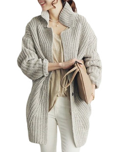 /gray-chunky-knit-loose-cocoon-coat-p-5452.html