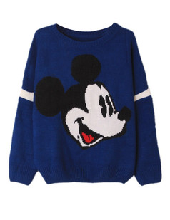 /cartoon-mickey-print-knit-sweater-blue-p-5934.html