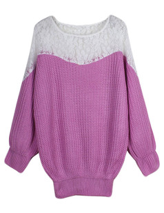 /chic-lace-shoulder-stitching-bat-sleeve-knitted-sweater-purple-p-4850.html