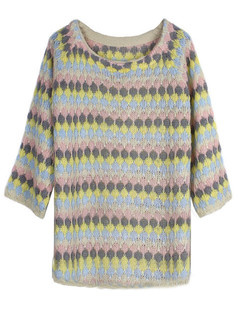 /es/rainbow-stripes-diamond-pattern-knitted-sweater-p-4858.html