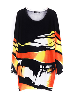/women-graffiti-print-long-loose-cotton-sweater-p-715.html