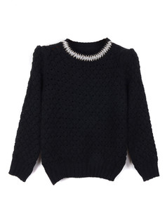 /women-crystal-pearls-beaded-hollow-crop-sweater-black-p-1351.html