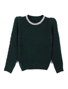 /women-crystal-pearls-beaded-hollow-crop-sweater-green-p-1352.html