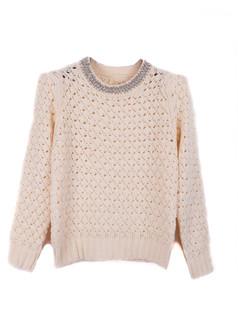 /women-crystal-pearls-beaded-hollow-crop-sweater-beige-p-1353.html