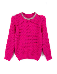 /women-crystal-pearls-beaded-hollow-sweater-rose-red-p-1349.html