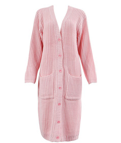 /pink-v-neck-pockets-knitted-long-cardigan-p-5574.html