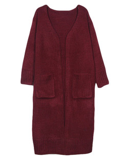 /es/oversize-pocket-open-front-long-knitted-cardigan-p-5346.html