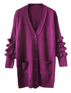 /purple-frill-sleeves-long-cardigan-sweater-coat-p-5538.html