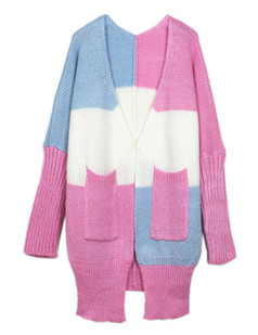 /pink-color-contrast-batwing-sleeve-sweater-coat-p-5600.html