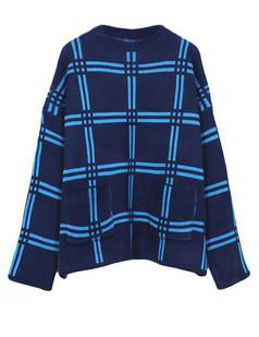 /navy-oversized-lattice-batwing-loose-knit-sweater-p-5598.html