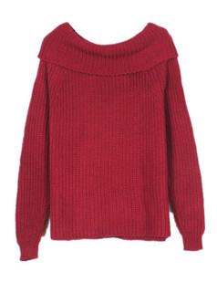 /es/drape-cowl-neck-chunky-knit-fuzzy-sweater-bungundy-p-5660.html