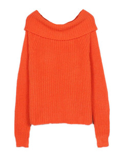 /drape-cowl-neck-chunky-knit-fuzzy-sweater-orange-p-5664.html