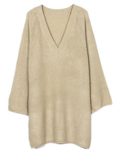 /v-neck-cropped-sleeve-cloak-sweater-dress-beige-p-6112.html