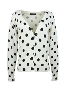 /women-v-neck-polka-dot-print-cardigan-sweater-knitwear-p-1477.html