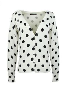 /ru/women-v-neck-polka-dot-print-cardigan-sweater-knitwear-p-1477.html